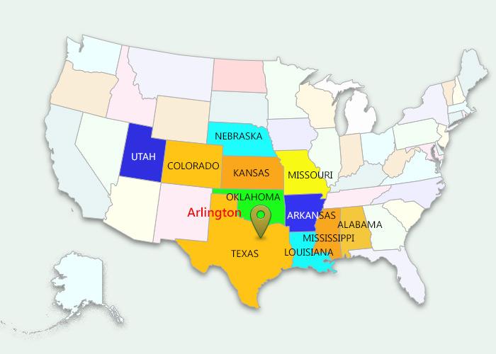 Map Of Texas Arlington.3pl Warehousing And Transportation Arlington Terminal