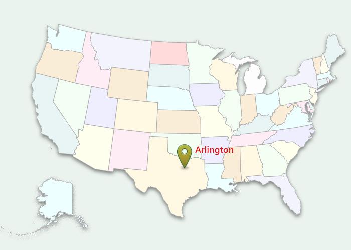 Map Of Texas Arlington.3pl Warehousing And Transportation Arlington Warehouse